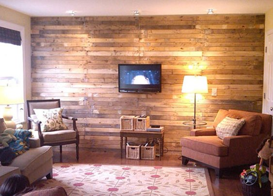 Pallet wood wall.