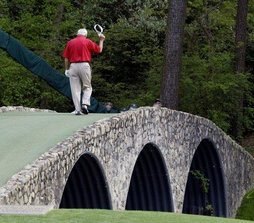 The Kings last walk over Hogan's Bridge (Amen Corner - Augusta National)