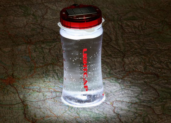 LightCap 300 Solar-Powered Lantern/Bottle | Cool Material