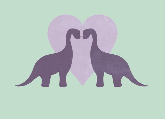 Prehistoric Love by *perdita00 on deviantART