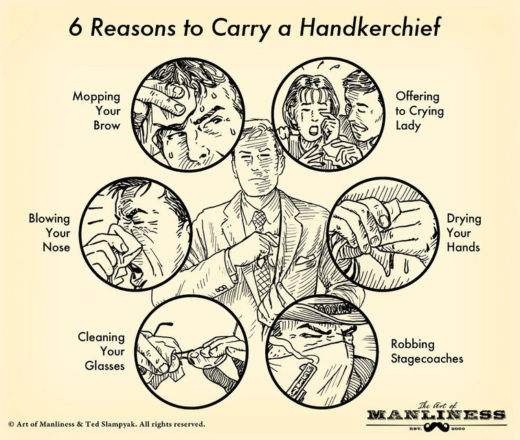 6 Reasons to Carry a Handkerchief: A Visual Guide