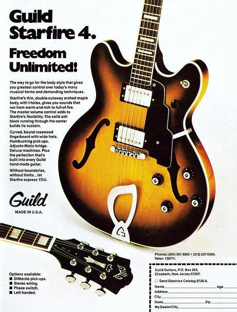 Guild Starfire 4 Guitar Ad - (1979)
