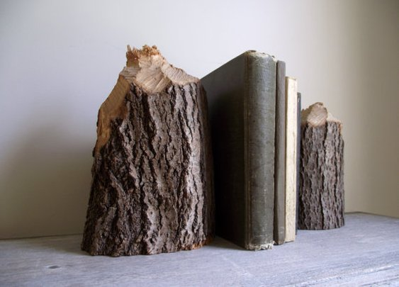 Stump Bookends