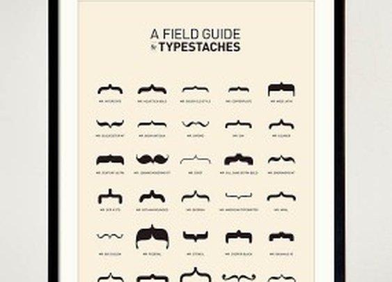 Typestache Poster