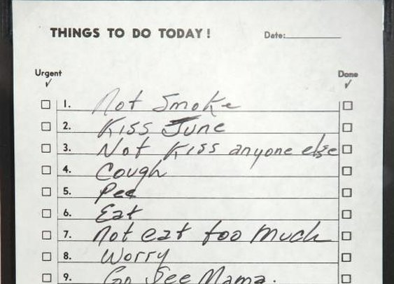 Johnny Cash's To-Do list.