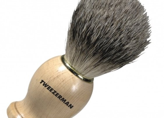 100% Badger Hair Deluxe Shaving Brush | Tweezerman