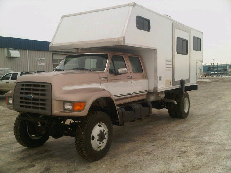 "Man camping F-700 4x4 Camper  ""Earth First.....Then we wheel the other planets! """