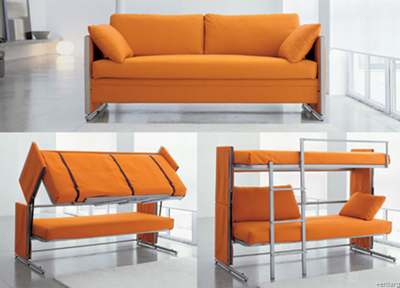 a sofa that turns into a bunk bed!