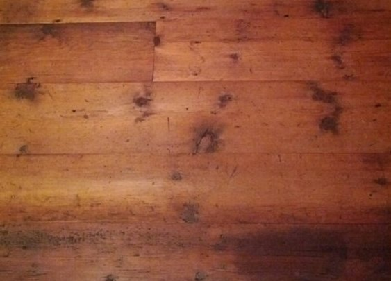 Reviving Manliness, 150 year old pine attic boards have been reclaimed...