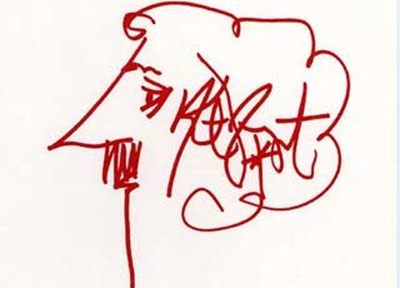 Kurt Vonnegut, self portrait -- Vonnegut.com