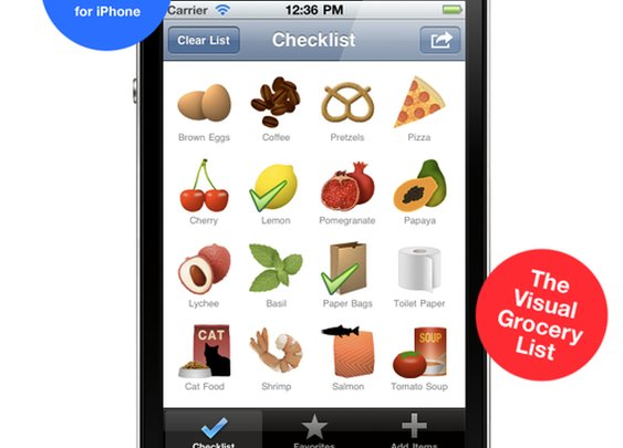 NeedFood (The Visual Grocery List) iPhone App