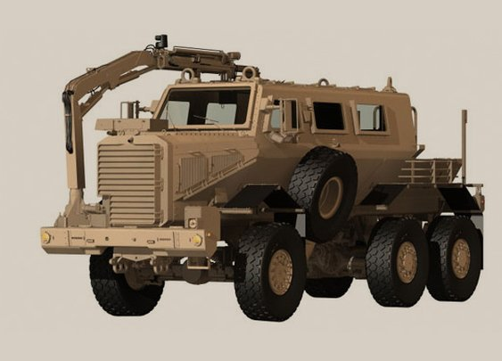 Buffalo® Armored MPCV Vehicle from Force Protection, Inc.