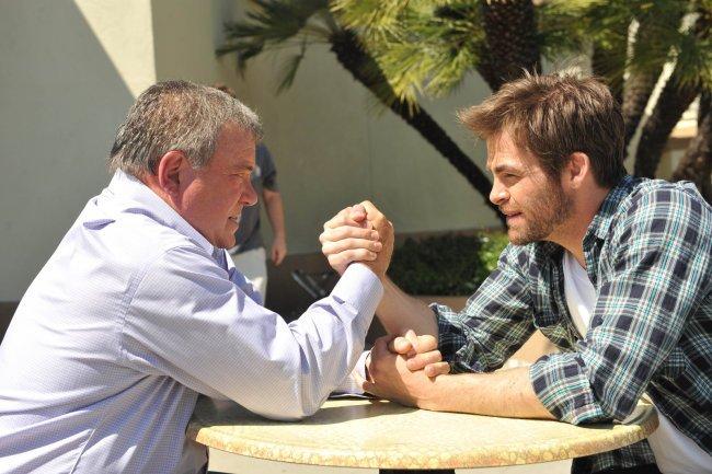 Captain Kirk Arm Wrestles Captain Kirk