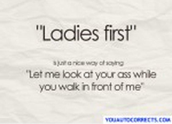 Ladies first :P
