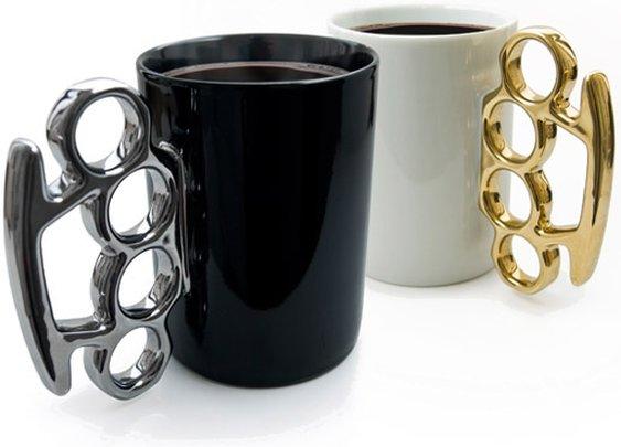 Knuckle Duster Mug™ | Brass Knuckles Mug | Novelty mug by Thabto