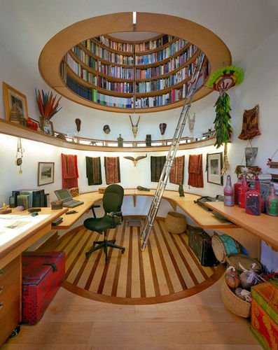 Creative Woodworking #26: Home Office Library - Extremely Cool - by dakremer @ LumberJocks.com ~ woodworking community