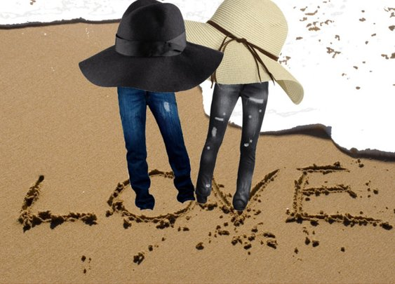 Love on a beach!