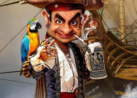 Rodney Pike Humorous Illustrator: Pirate Bean