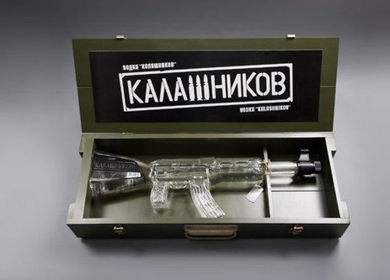 AK 47 Kalashnikov Vodka Bottle