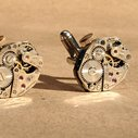 Jeweled Hex Cufflinks with Stems