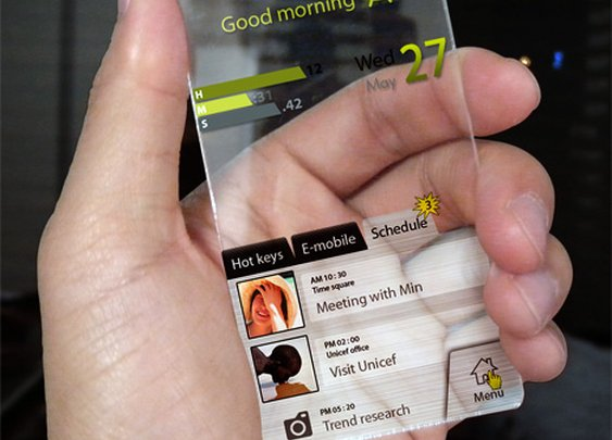 Completely Transparent Cell Phone Concept Designed by Seunghan Song