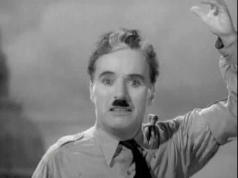Charlie Chaplin final speech in The Great Dictator      - YouTube