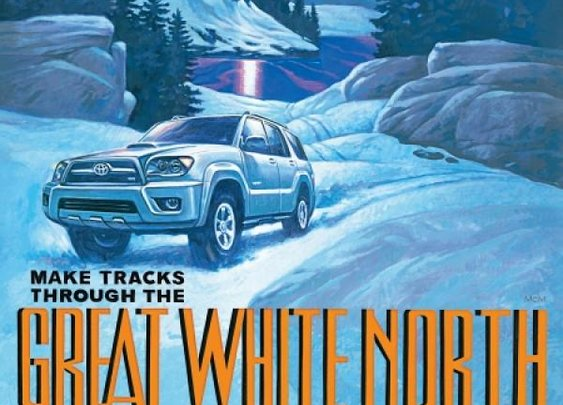 Great White North: Toyota 4Runner print ad