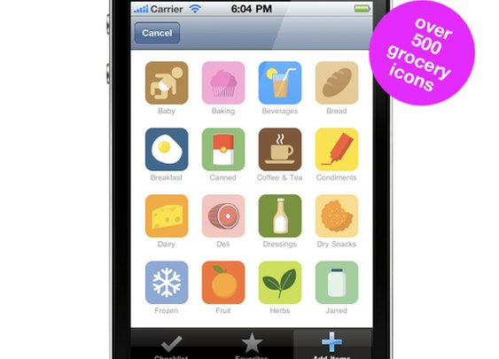 NeedFood (The Visual Grocery List) iPhone App - Now with over 500 icons