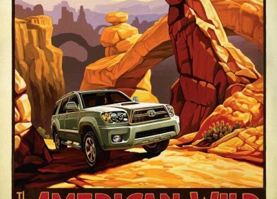 American Wild: Toyota 4Runner Print ad