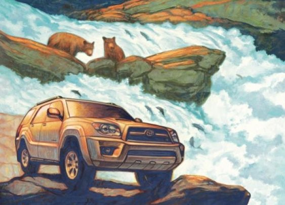 Uncharted America: Toyota 4Runner print ad