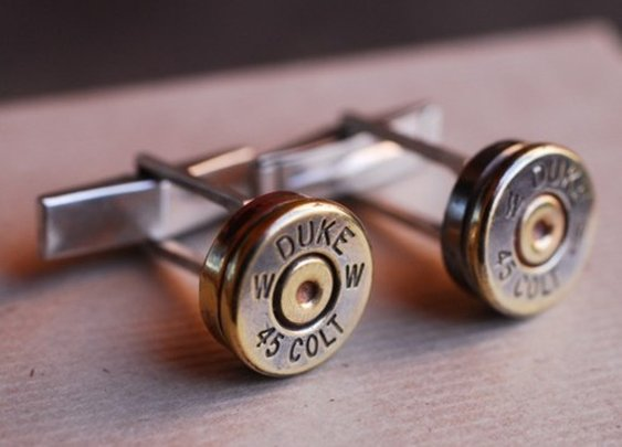 Shoot 'em Up Bullet Cufflinks