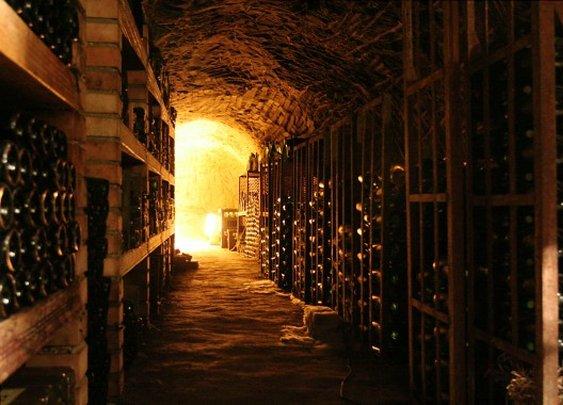 Serious wine cellar.