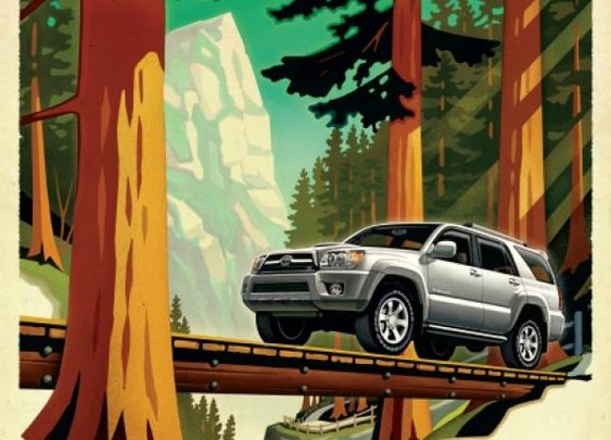 Adventure Awaits: Toyota 4Runner print ad