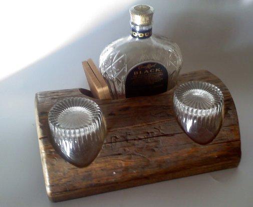 Tabletop mini bar gift set by AspenBottleHolders on Etsy