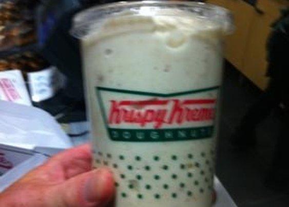 Krispy Kreme Doughnut Milkshake!