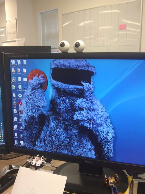 Cookie Monster desktop swag