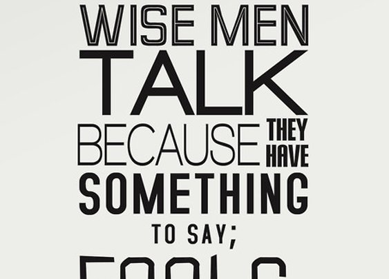 Don't be a fool