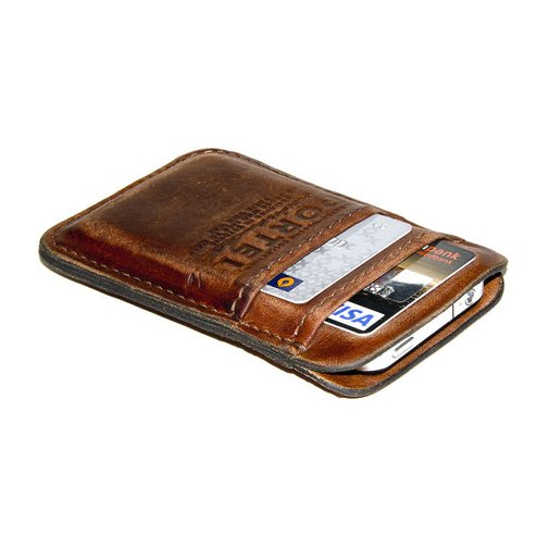 iPhone / iPod Touch   RETROMODERN aged leather pocket   by portel
