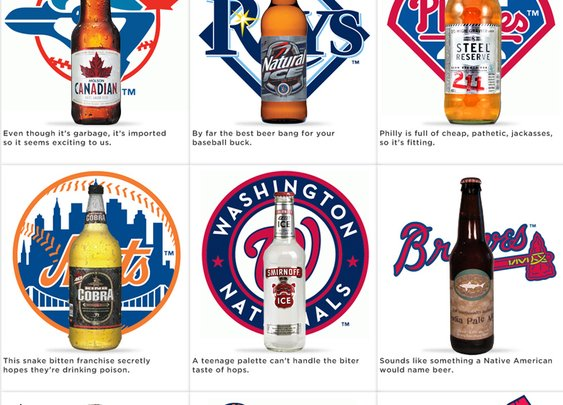 A beer for every baseball team