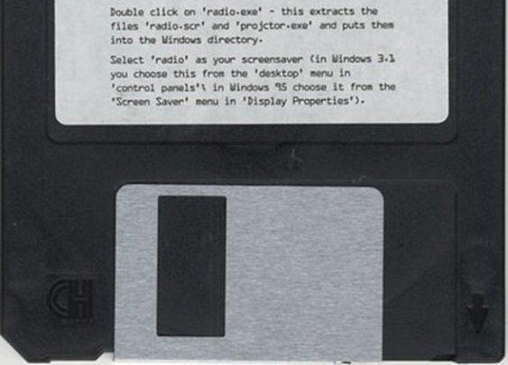 "Radiohead ""OK Computer"" Floppy Disk, 1997   Retronaut"