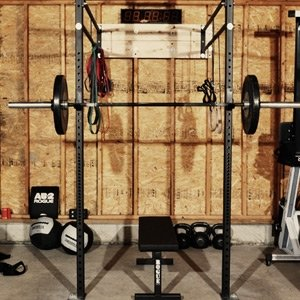 rogue fitness garage gym  gentlemint