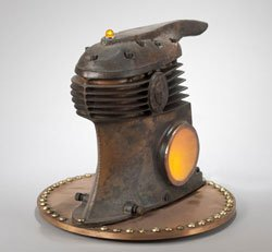 Vintage Air Compressor Lamp by Talbotics