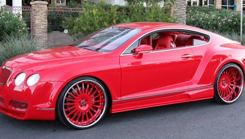 Cars Trucks Motorcycles Airplanes / RED WIDE BODY BENTLEY