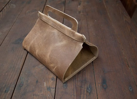 leather lunch tote