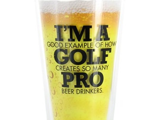 "Bogey Pro ""Golf Pro"" Pint Glass"