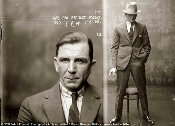 They don't make mugshots like this anymore: Amazing police photos of 1920s criminals arrested in Australia  | Mail Online