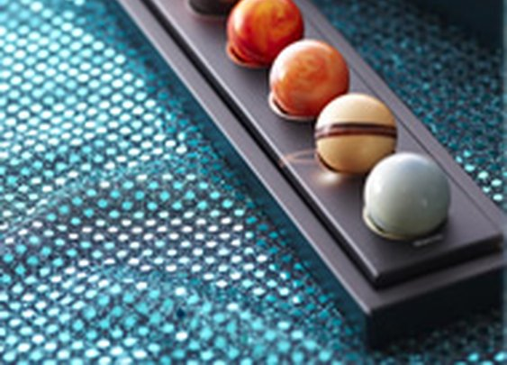 Ever wondered what Uranus tastes like?  Try these chocolate planets.