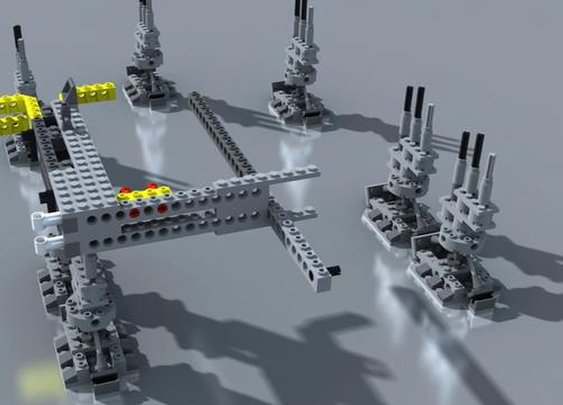 Lego Millennium Falcon Stop Motion Assembly 3d on Vimeo