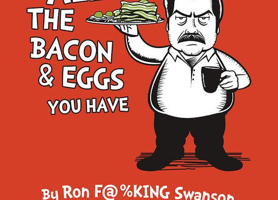 """Ron Swanson VS Dr. Seuss"" T-Shirts & Hoodies by Tom Trager 