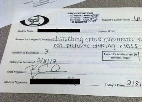 16 Funny Detention Slips | Pleated-Jeans.com